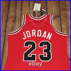 100% Authentic Mitchell & Ness Michael Jordan Bulls Road Jersey SZ 48 XL Rookie