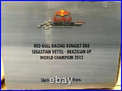 118 Minichamps #110 120101 Sebastian Vettel Red Bull RB8 #1 2012 Brazil GP- NEW