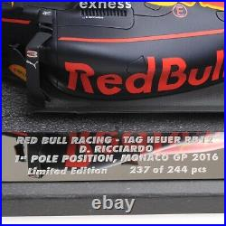 118 scale model Red Bull Racing Tag Heuer RB12 Daniel Ricciardo 1st Pole Monaco