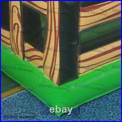 16x16ft Inflatable Rodeo Mechanical Bull Game Riding Red Eyes With Air Blower