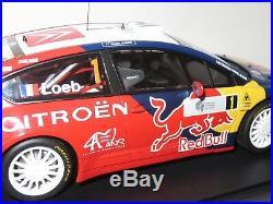 1/18 Citroen C4 WRC Red Bull 1st Rallye de France Tour de Corse 2008 S. Loeb