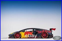 1/18 Davis & Giovanni Liberty Walk Lb Works Lamborghini Aventador Red Bull #01
