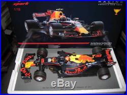 1/18 Spark F1 Max Verstappen Rb13 Winner Malaysian 2017 Gp Red Bull Racing