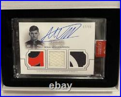 2020 Topps Dynasty Formula 1 MAX VERSTAPPEN Triple Relic Patch Auto /10 RED BULL