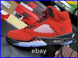 2021 Air Jordan Retro 5 Raging Bull/Toro Bravo Nike In Hand