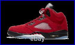 2021 NEW AIR JORDAN 5 Red Raging Bull Toro Men's Size 9.5 13 5.5Y DD0587-600