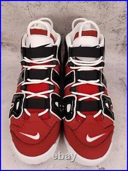 2021 Nike Air More Uptempo 96 Bulls Varsity Red/Black 921948-600 Men's size 11