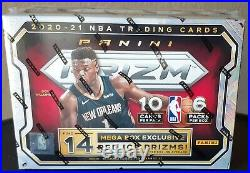 2021 Panini NBA Basketball Trading Card Mega Box Red Ice Prizms Sealed In Hand