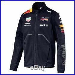 762354-01 Mens Puma Red Bull Racing RBR Team Softshell Jacket Night Sky