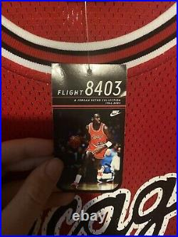 AUTHENTIC Nike Michael Jordan Chicago Bulls Rookie Jersey Flight 8403 52 NEW