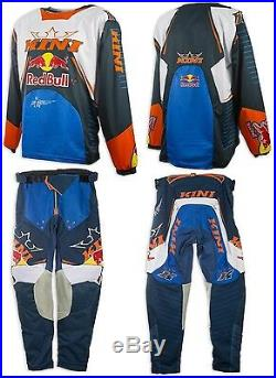 Abbigliamento Maglia Pantaloni Kini Red Bull MX Competition Navy Orange Tg Xl+xl