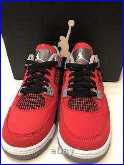 Air Jordan 4 Retro Toro Bravo Fire Red Cement OG 2013 (GS) size 4Y