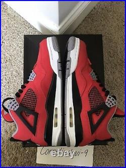 Air Jordan 4 Retro Toro Bravo Raging Bull Red Size 8
