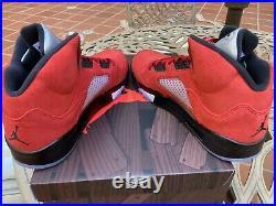 Air Jordan 5 Retro Raging Bull Red Toro Bravo Mens Size 12.5 In Hand