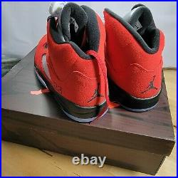 Air Jordan 5 V Retro Raging Bull Varsity Red/Black-White Mens Sz13 DD0587-600