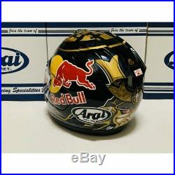 Arai Genuine Oem Rx-7x Pedrosa Samurai Spirits Red Bull Full Face Helmet