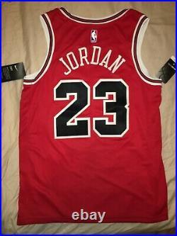 Authentic Michael Jordan 23 Chicago Bulls Nike Swingman Icon NBA Jersey 48 L NWT