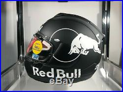 Black Arai Corsair-X Red Bull Helmet Flat Finish LARGE SIZE