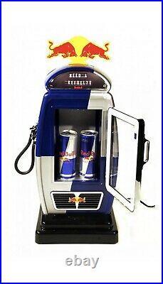 Brand New Mega Rare Red Bull Energy Drink Mini Gas Pump Counter Fridge Cooler