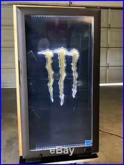 Brand New Monster Gs3 Energy Drink Cooler Fridge Refrigerator Red Bull Rockstar