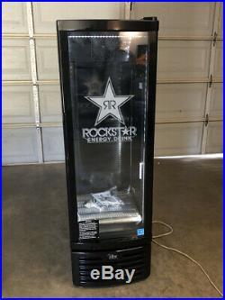 Brand new Rockstar REFRIGERATOR COOLER GCG-9-N334B Slim Fridge MONSTER RED BULL