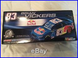 Brian Vickers 2008 Toyota Camry Red Bull Cot Autographed Diecast & Postcard