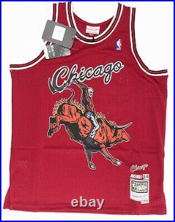 CHICAGO BULLS Remix JERSEY Mitchell & Ness Swingman Large L JUICE WRLD 999 NBA