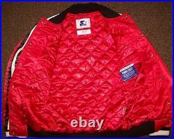 CHICAGO BULLS Starter Snap Down Jacket RED MEDIUM