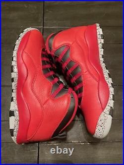 DS 2015 Nike Air Jordan Retro X 10 30TH Bulls Over Broadway Red Sz 10.5 NEW