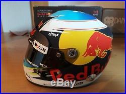 Daniel Ricciardo mini Helm helmet casque 12 2018 Red Bull rare added Dita logos
