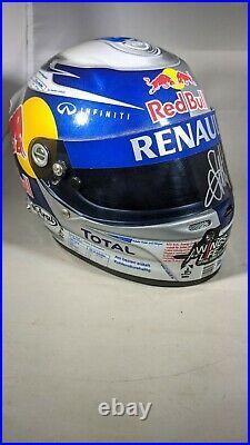 F1 1/2 SIGNED Sebastian Vettel 2010 Red Bull Racing Arai GP6 Helmet Formula 1