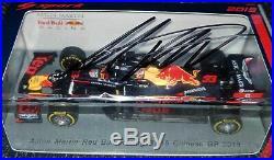 F1 Max Verstappen signed 1/43 Red Bull RB15 car 2019 Spark Formula 1