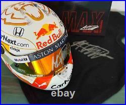 F1 Max Verstappen signed Red Bull 2020 helmet 1/2 scale Formula 1