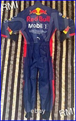 F1 Racing MAX 2020 Style RedBull Printed Suit Go Kart/Karting Race/Racing Suit
