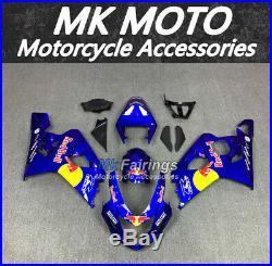 Fairing Kit Bodywork fit for SUZUKI GSXR600/750 2004-2005 Blue/Red Bull