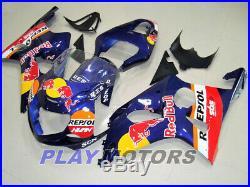 Fairing kit Bodywork fit For SUZUKI GSXR1000 2000-2002 Injection Blue Red Bull