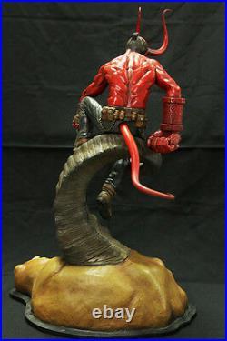 Hellboy red money demon on bull horn Original Resin Figure Model Unpainted Kit