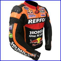 Honda Redbull Motogp Motorbike / Motorcycle Racing Leather Jacket