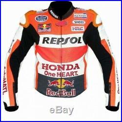 Honda Repsol Red Bull Motorcycle Cowhide Leather Street Racing Motorbike Jacket
