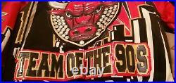 Jeff Hamilton Chicago Bulls TEAM OF THE 90S 5 NBA Championships Leather Jacket