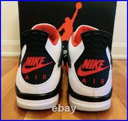 Jordan 4 Fire Red (2020) Size 11 DC7770-160 White Red Black Bulls Home IV
