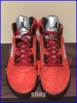 Jordan 5 Retro Raging Bull Red (2021). Size 9. Deadstock