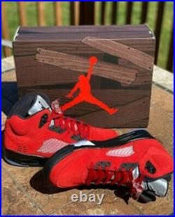Jordan 5 Retro Raging Bulls Red 2021 GS and Men's Sizes PRE-ORDER Free Shipping