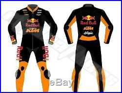 KTM REDBULL Motorcycle Racing Biker Custom Leather Suit Motorbike RacingCowhide