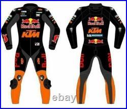 KTM REDBULL Motorcycle Racing Biker Custom Leather Suit Motorbike Racing Cowhide