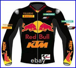 Ktm Redbull 2019 Premium Racer Motorbike/motorcycle Leather Jacket-(38-48)