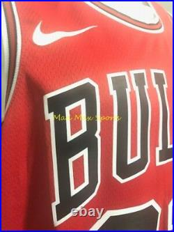 MICHAEL JORDAN Chicago BULLS Nike Red THROWBACK Icon Edition SWINGMAN Jersey