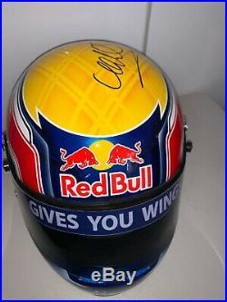 Mark Webber (Australia) signed 2010 F1 Helmet (11 Scale) + COA/Photo Proof