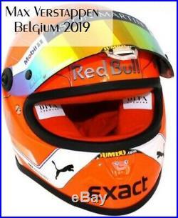 Max Verstappen helmet Belgium 2019 scale 1/2 Red Bull Racing