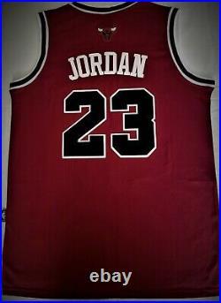 Michael Jordan #23 Chicago Bulls Red Last Dance Men's MEDIUM Jersey NEW